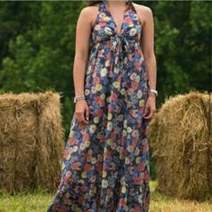 NWT! Anthropologie Dil Floral V-Neck Maxi Dress
